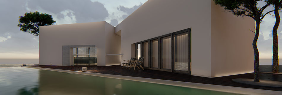 Immobilienvermarktung, Resort Hotel Rendering, Immobilien virtuell