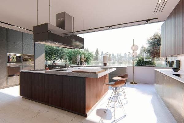 Poliform Küche 3D Modell, 3D Agentur Wien, professionelle 3d Renderings