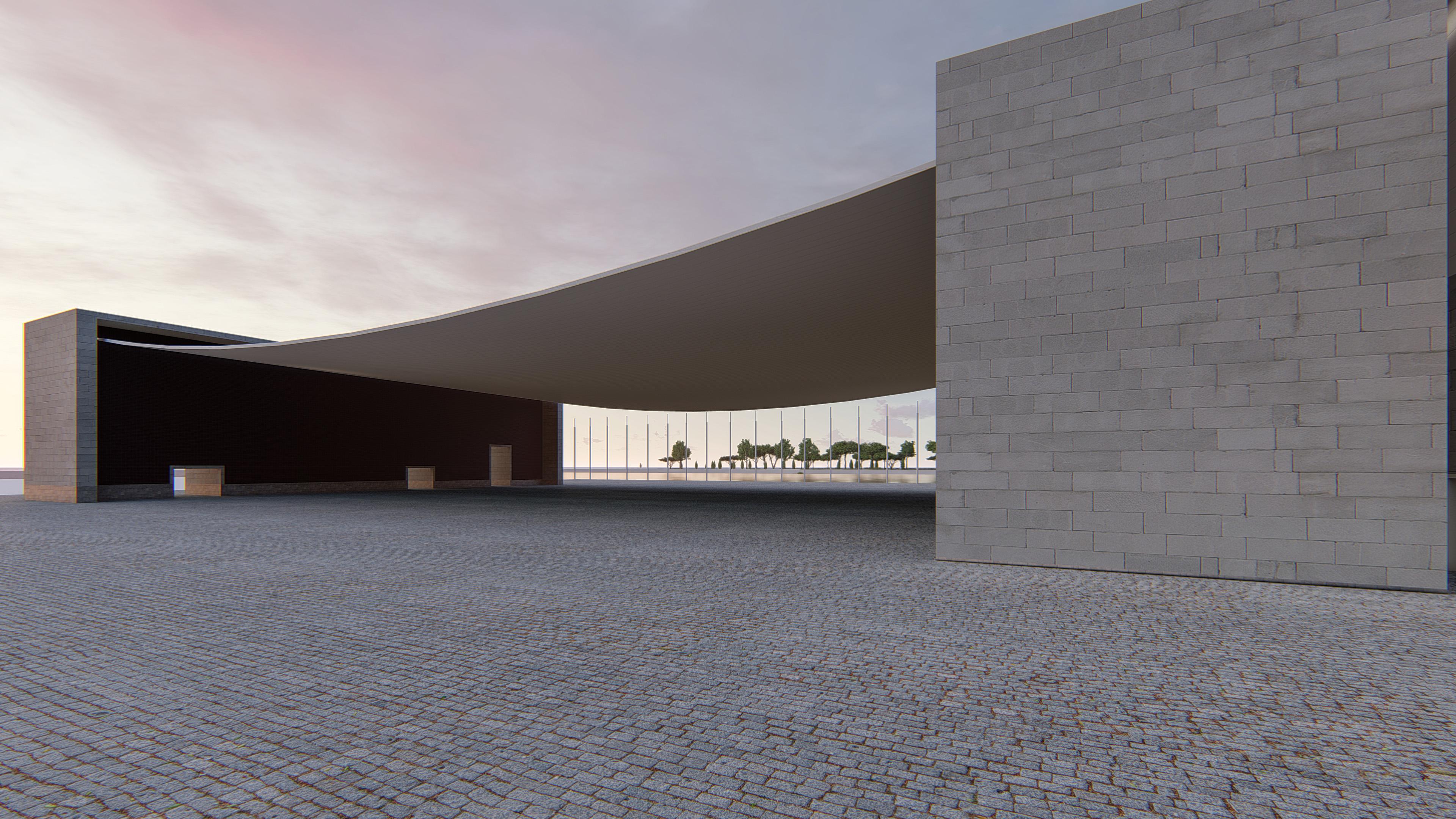 Pavilion-Fotorealistische-Rendering in Wien, Virtuelle Foto, architekturvisualisierung