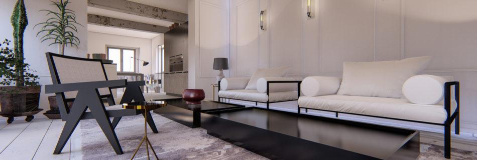 Salon-3D-Visualisierung-Immobilien, Innenarchitektur 3d visualisierung