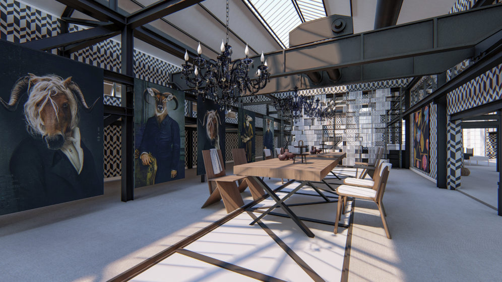 Fabrik Rendering, Einrichtung, Konzepte 3 d, real 3d, Visualisierung, Produkt Design